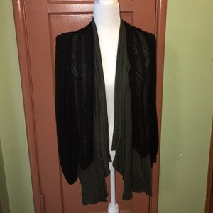 NWT CHASER brand distressed cardigan sweater.
